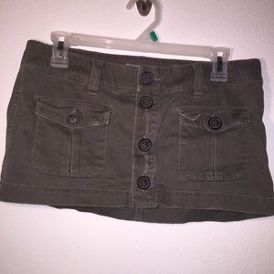 Vintage Hollister army green mini skirt